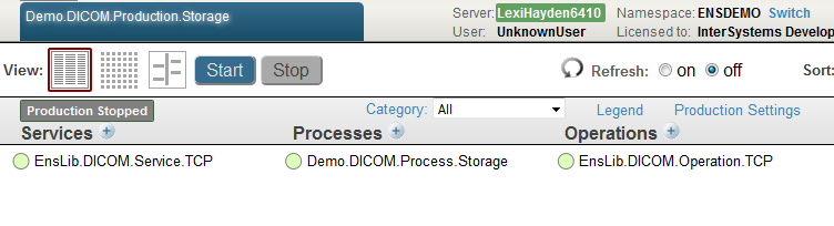 Sample DICOM Routing to Storage Production