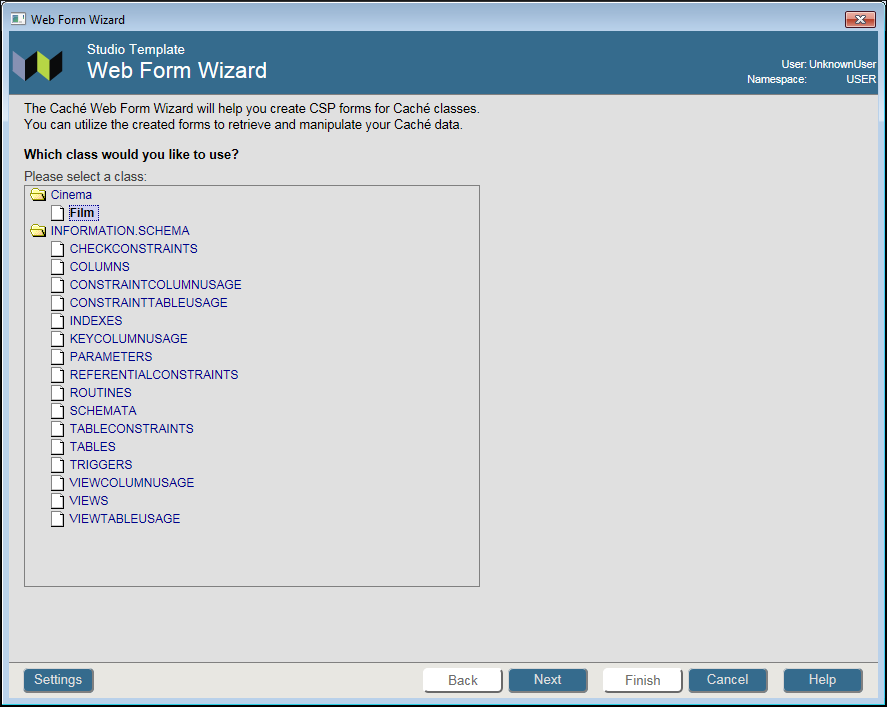 Using the Web Form Wizard